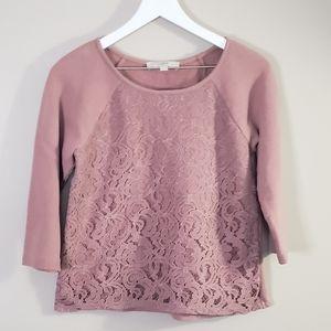 Loft Lace Sweater Blouse